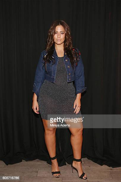 Model Ashley Graham poses backstage before the Addition Elle/Ashley Graham Lingerie Collection fashion show during the Holiday 2016 Style 360 NYFW at...