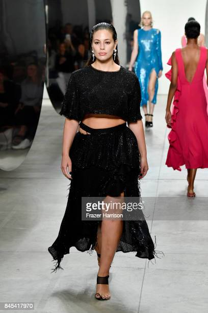 Model Ashley Graham walks the runway for Prabal Gurung fashion show during New York Fashion Week The Shows at Gallery 2 Skylight Clarkson Sq on...