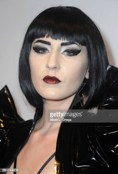 Model Ashley Joncas arrives for the TJ Scott Book Launch For 'In The Tub Volume 2' held at Cinematic Pictures Group Gallery on December 2 2017 in...