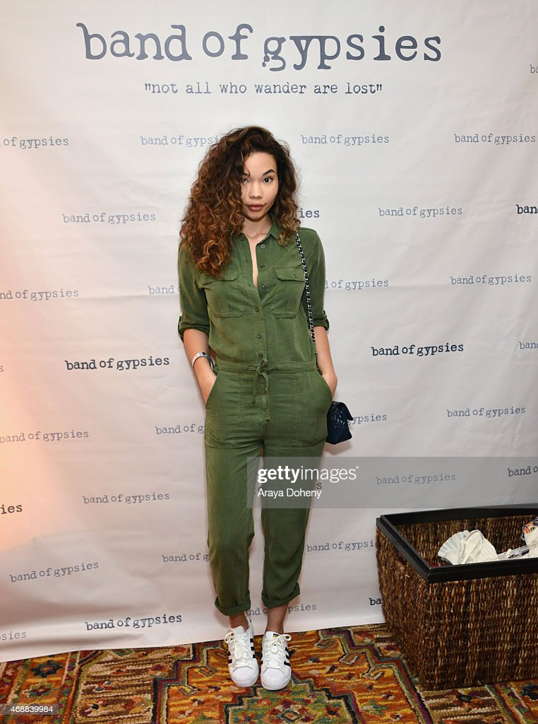 Model Ashley Moore attends Kari Feinstein's Music Festival Style Lounge at Sunset Marquis Hotel Villas on April 7 2015 in West Hollywood California
