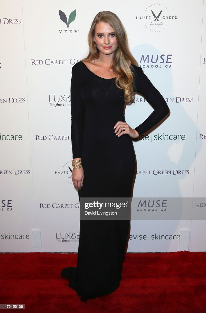 Model <a gi-track='captionPersonalityLinkClicked' href=/galleries/search?phrase=Ashley+Robinson&family=editorial&specificpeople=220458 ng-click='$event.stopPropagation()'>Ashley Robinson</a> attends the 5th Anniversary Celebration of Suzy Amis Cameron's Ecofashion Campaign 'Red Carpet Green Dress' at Palihouse on February 27, 2014 in West Hollywood, California.