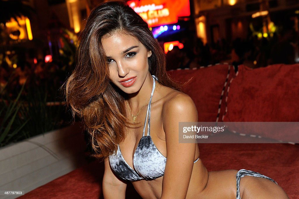 Model <a gi-track='captionPersonalityLinkClicked' href=/galleries/search?phrase=Ashley+Sky&family=editorial&specificpeople=10058707 ng-click='$event.stopPropagation()'>Ashley Sky</a> appears during the 'Encore Beach Club at Night' launch at the Encore Beach Club at Wynn Las Vegas on May 1, 2014 in Las Vegas, Nevada.