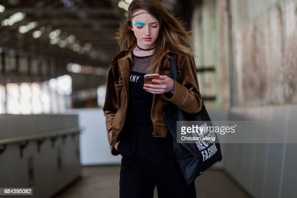 A model at day 5 during MercedesBenz Fashion Week Resort 18 Collections at Carriageworks on May 18 2017 in Sydney Australia