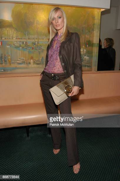 Model at the Andre Leon Talley and Robert Burke host at La Caravelle for Loulou de la Falaise Collection on February 12 2004