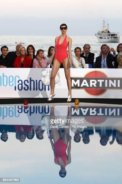 A model at the Grand Prix and Fashion Unite at The Amber Lounge Le Meridien Beach Plaza Hotel Monaco