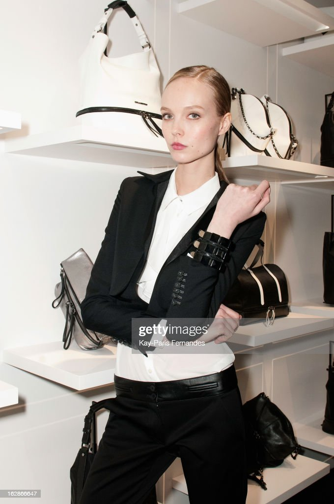 A model at the Karl Lagerfeld's Concept Store Opening as part of Paris Fashion Week on February 28, 2013 in Paris, France.