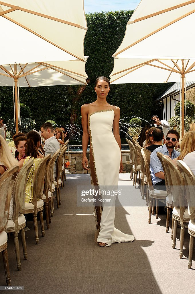 Model attends Lorena Sarbu Resort 2014 Luncheon on July 24, 2013 in Beverly Hills, California.