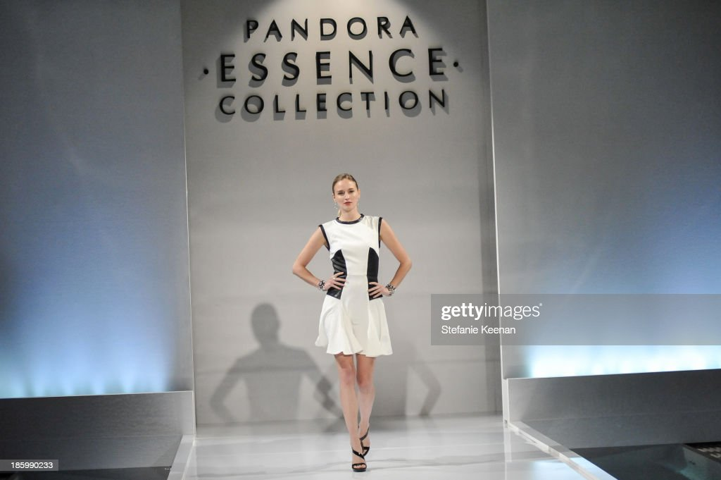 Model attends PANDORA ESSENCE COLLECTION North America Launch Party at SkyBar at the Mondrian Los Angeles on October 26, 2013 in West Hollywood, California.