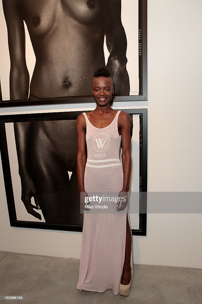 Model attends the Samuel Bayer Ace Gallery Exhibit Opening, presented by Panavision at Ace Gallery on March 2, 2013 in Beverly Hills, California.