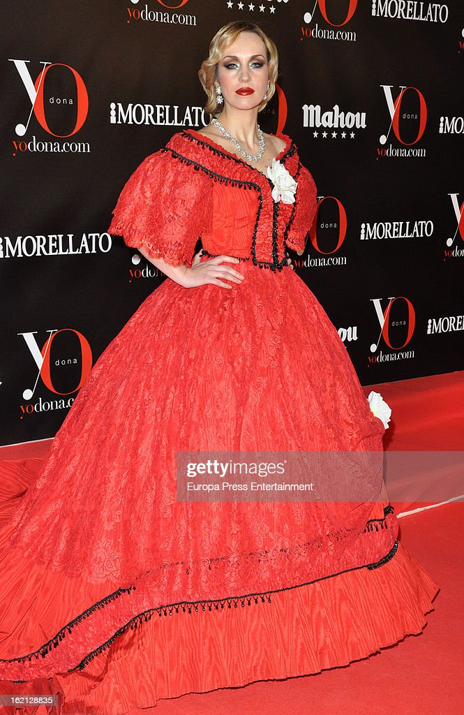 A model attends 'Yo Dona' magazine mask party on February 18, 2013 in Madrid, Spain.