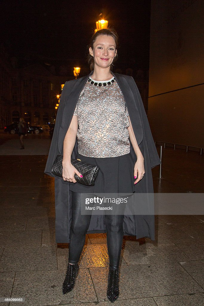 Model <a gi-track='captionPersonalityLinkClicked' href=/galleries/search?phrase=Audrey+Marnay&family=editorial&specificpeople=622579 ng-click='$event.stopPropagation()'>Audrey Marnay</a> arrives at the Alexis Mabille show as part of Paris Fashion Week Haute-Couture Spring/Summer 2014 on January 20, 2014 in Paris, France.