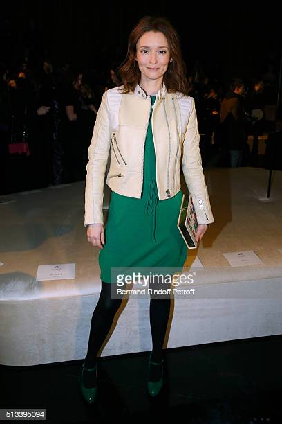 Model Audrey Marnay attends the HM Studio show as part of the Paris Fashion Week Womenswear Fall/Winter 2016/2017 on March 2 2016 in Paris France