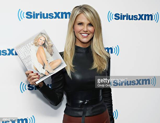 Model/ author Christie Brinkley visits the SiriusXM Studios on November 9 2015 in New York City