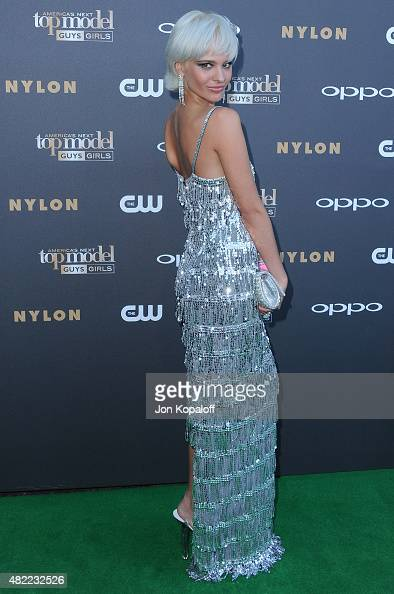 Model Ava Capra arrives at 'America's Next Top Model' Cycle 22 Premiere Party at Greystone Manor on July 28 2015 in West Hollywood California