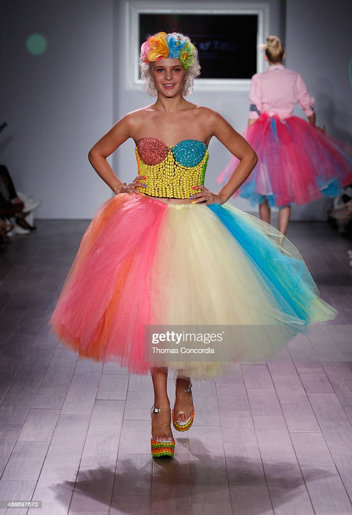 Model Ava Capra walks the runway during KIA STYLE360 hosts Tumbler and Tipsy by Michael Kuluva on September 16 2015 in New York City