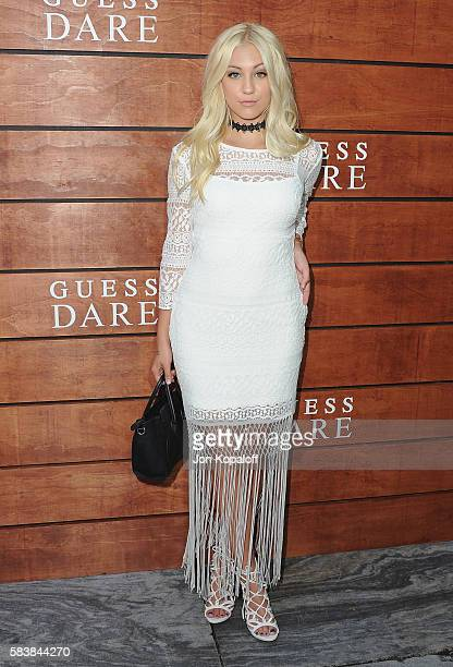 Model Ava Sambora arrives at GUESS Dare Double Dare Fragrance Launch at Ysabel on July 27 2016 in West Hollywood California