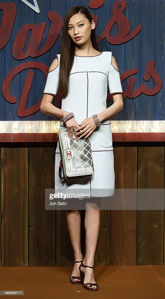 Model Aya Omasa attends CHANEL 2013/14 'Paris-Dallas Metiers d'Art Collection' at Toranomon Hills on June 4, 2014 inTokyo, Japan.