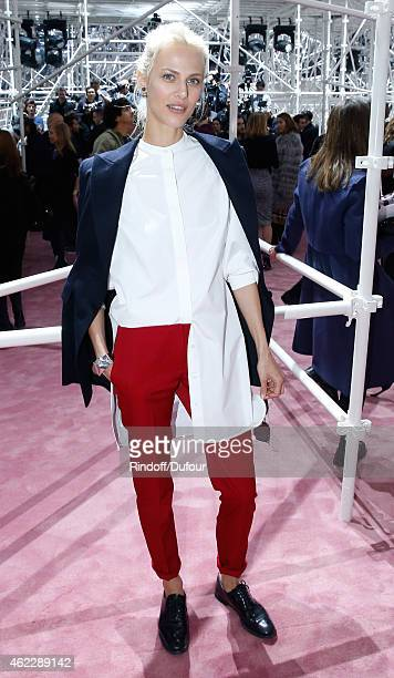 Model Aymeline Valade attends the Christian Dior show as part of Paris Fashion Week Haute Couture Spring/Summer 2015 on January 26 2015 in Paris...
