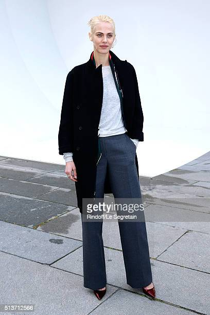 Model Aymeline Valade attends the Christian Dior show as part of the Paris Fashion Week Womenswear Fall/Winter 2016/2017 on March 4 2016 in Paris...