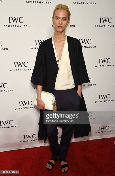 Model Aymeline Valade attends the IWC Schaffhausen Third Annual 'For the Love of Cinema' Gala during the Tribeca Film Festival on April 16 2015 in...