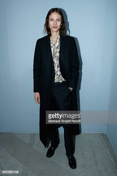 Model Aymeline Valade attends the Lanvin Menswear Fall/Winter 20172018 show as part of Paris Fashion Week on January 22 2017 in Paris France