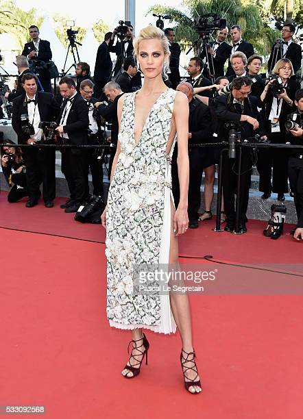 Model Aymeline Valade attends 'The Last Face' Premiere during the 69th annual Cannes Film Festival at the Palais des Festivals on May 20 2016 in...