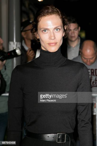 Model Aymeline Valade is spotted during the 70th annual Cannes Film Festival at the 'Vanity Fair CHANEL' dinner at Tetou restaurant on May 24 2017 in...