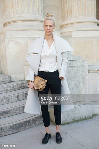 Model Aymeline Valade wears all Chloe at the Chloe show on day 6 of Paris Collections Women on March 08 2015 in Paris France