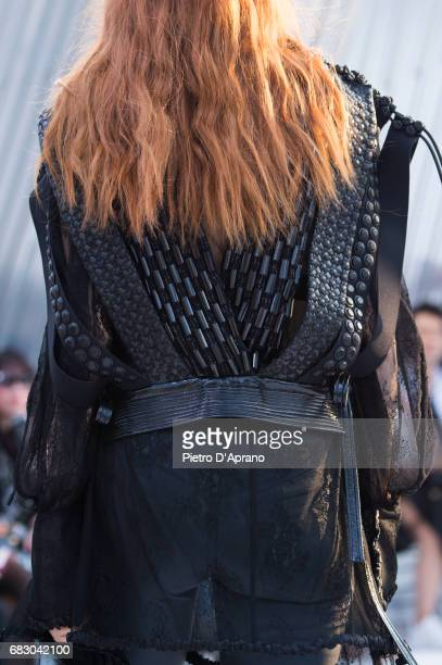 A model back detail showcases the design on runway during the Louis Vuitton Resort 2018 show at the Miho Museum on May 14 2017 in Koka Japan