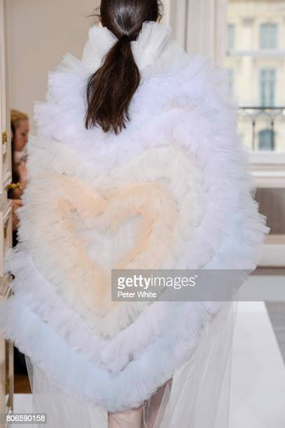 A model back detail walks the runway during the Schiaparelli Haute Couture Fall/Winter 20172018 show as part of Haute Couture Paris Fashion Week on...