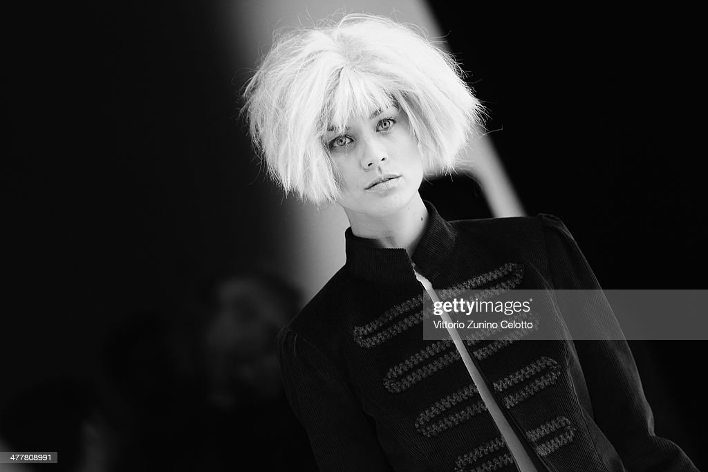 Model backstage at MBFWI presented by American Express Fall/Winter 2014 on March 11, 2014 in Istanbul, Turkey.