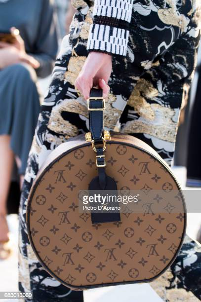 A model bag detail showcases the design on runway during the Louis Vuitton Resort 2018 show at the Miho Museum on May 14 2017 in Koka Japan