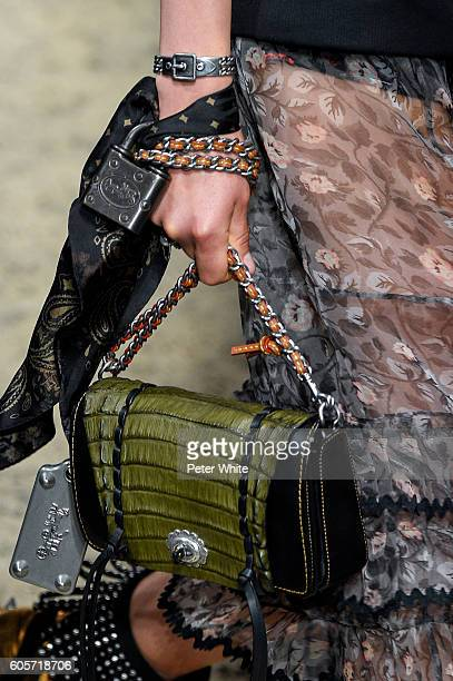 A model bag detail walks the runway at Coach Women's Fashion Show during New York Fashion Week on September 13 2016 in New York City