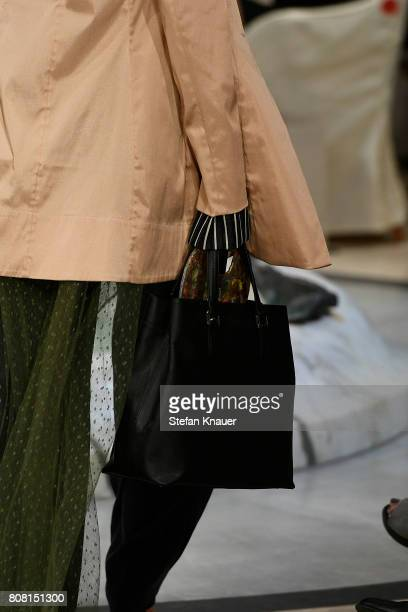 A model bag detail walks the runway at the Anja Gockel show during the MercedesBenz Fashion Week Berlin Spring/Summer 2018 at Hotel Adlon on July 4...
