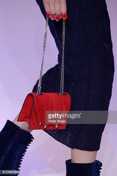 A model bag detail walks the runway at the Marco De Vincenzo show during Milan Fashion Week Fall/Winter 2016/17 on February 26 2016 in Milan Italy