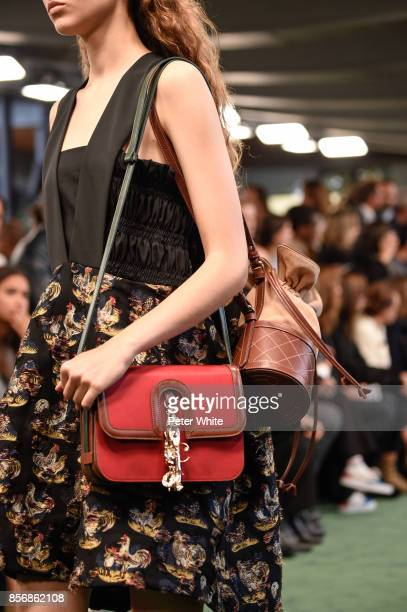 A model bag detail walks the runway during the Carven show as part of the Paris Fashion Week Womenswear Spring/Summer 2018 on September 28 2017 in...