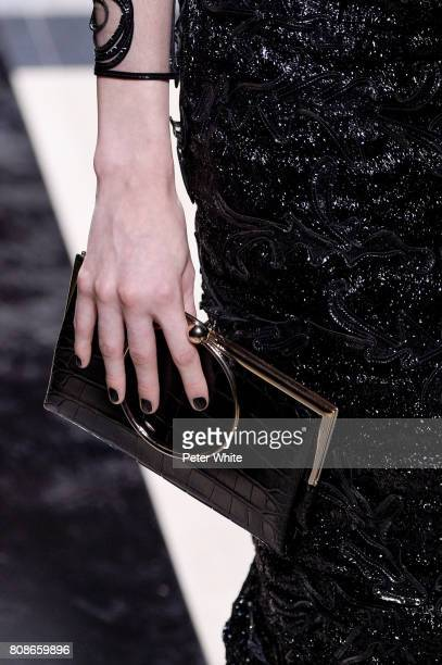 A model bag detail walks the runway during the Giorgio Armani Prive Haute Couture Fall/Winter 20172018 show as part of Haute Couture Paris Fashion...