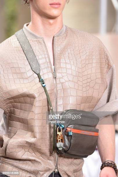 A model bag detail walks the runway during the Louis Vuitton Menswear Spring/Summer 2018 show as part of Paris Fashion Week on June 22 2017 in Paris...