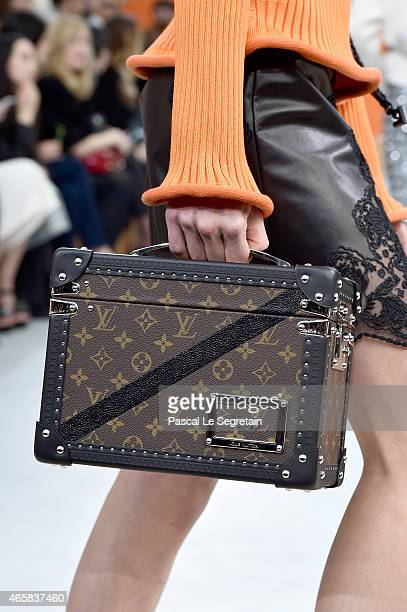 A model bag detail walks the runway during the Louis Vuitton show as part of the Paris Fashion Week Womenswear Fall/Winter 2015/2016 on March 11 2015...