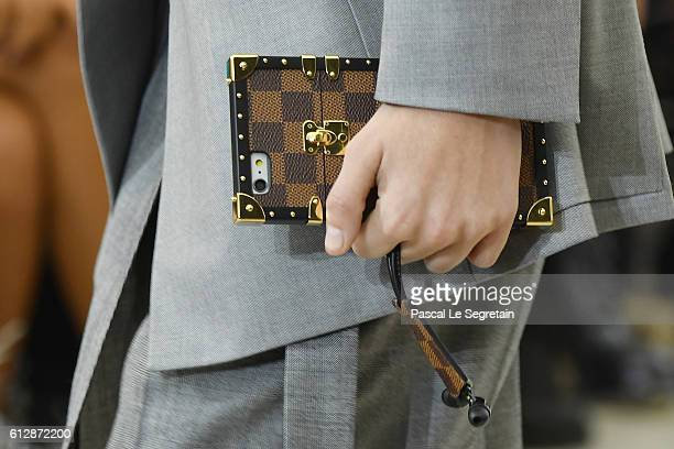 A model bag detail walks the runway during the Louis Vuitton show as part of the Paris Fashion Week Womenswear Spring/Summer 2017 on October 5 2016...