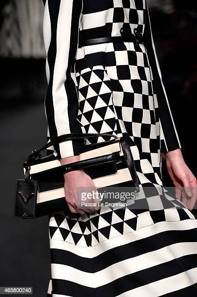 A model bag detail walks the runway during the Valentino show as part of the Paris Fashion Week Womenswear Fall/Winter 2015/2016 on March 10 2015 in...