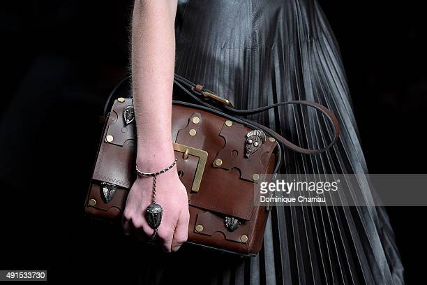 A model bag detail walks the runway during the Valentino show as part of the Paris Fashion Week Womenswear Spring/Summer 2016 on October 6 2015 in...