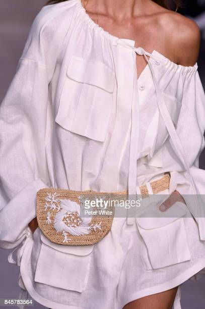 A model bag detail walks the runway for Zimmermann fashion show during New York Fashion Week The Shows at Spring Studios on September 11 2017 in New...