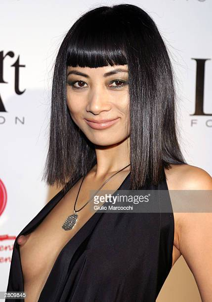Model Bai Ling attends 'The Red Party' on December 13 2003 in Beverly Hills California