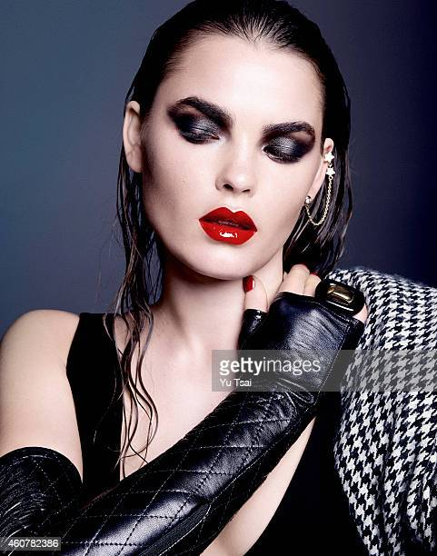 A model is photographed for a beauty editorial for for Contributor Magazine on November 26 2014 in Los Angeles California PUBLISHED IMAGE