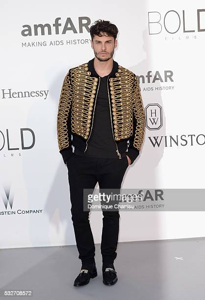 Model Baptiste Giabiconi attends the amfAR's 23rd Cinema Against AIDS Gala at Hotel du CapEdenRoc on May 19 2016 in Cap d'Antibes France