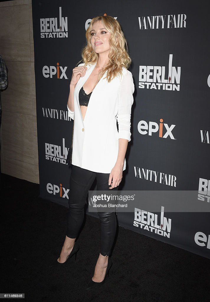 Model Bar Paly attends EPIX 'Berlin Station' LA premiere at Milk Studios on September 29, 2016 in Los Angeles, California.