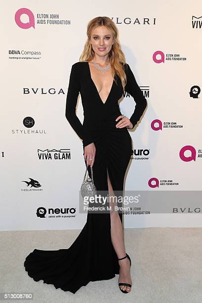 Model Bar Paly attends the 24th Annual Elton John AIDS Foundation's Oscar Viewing Party on February 28 2016 in West Hollywood California