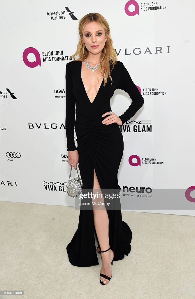 Model Bar Paly attends the 24th Annual Elton John AIDS Foundation's Oscar Viewing Party at The City of West Hollywood Park on February 28, 2016 in West Hollywood, California.