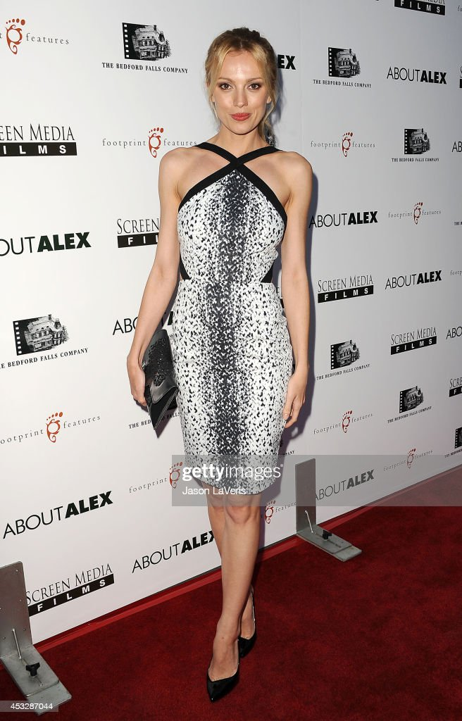 Model Bar Paly attends the premiere of 'About Alex' at ArcLight Hollywood on August 6, 2014 in Hollywood, California.
